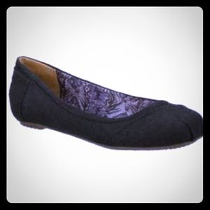 BOBS Skechers Ballerina Flats Black Fabric 6.5